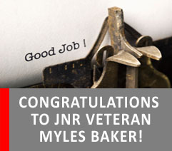 COMMUNITY INVOLVEMENT IS A PASSION FOR JNR VETERAN, MYLES BAKER!